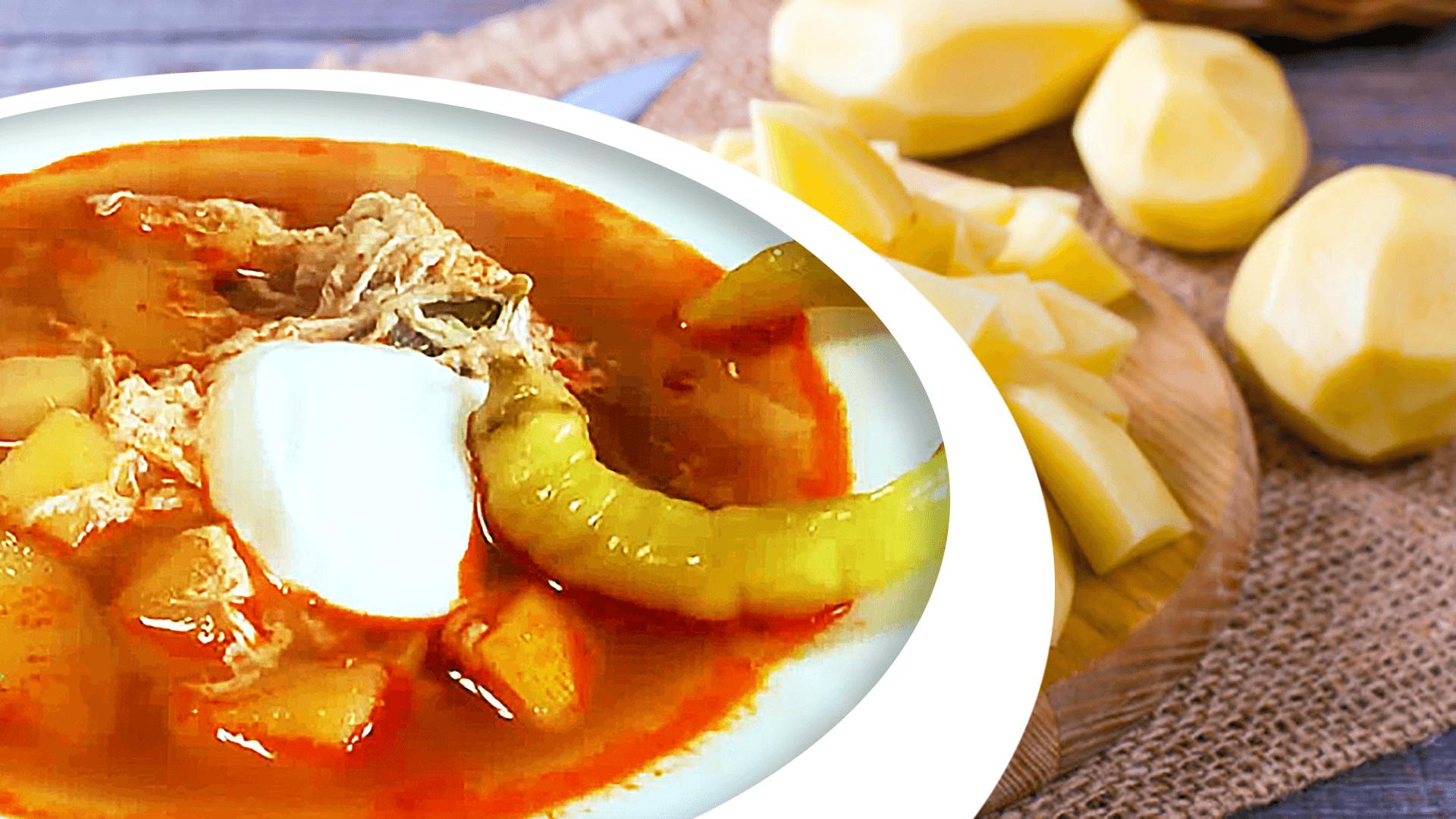 Homemade Potato Soup with Egg Drops - Easy Potato Soup Recipe