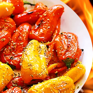 Easy Roasted Pepper Salad with Vinegar (Bell Pepper Salad Recipe in 5 Steps)