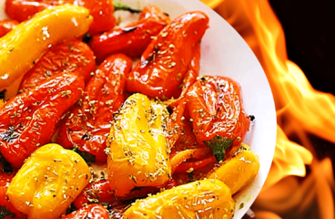 Basic Roasted Pepper Salad with Vinegar | Easy Bell Pepper Salad Recipe #132<span class=