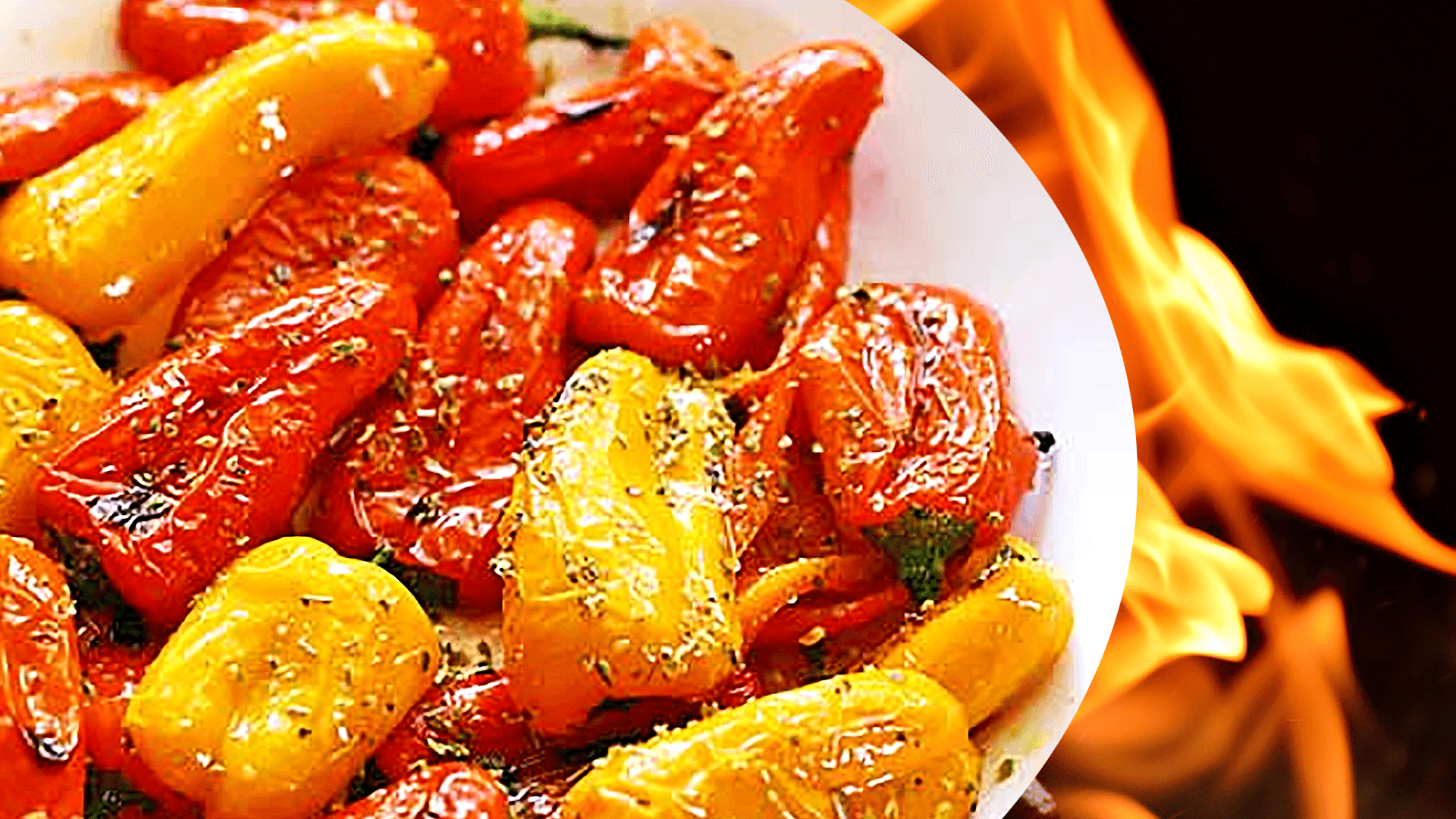 Roasted Pepper Salad with Vinegar - Easy Bell Pepper Salad Recipe
