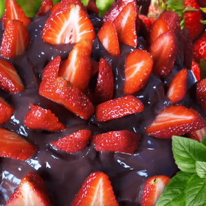 RECIPE #1! Strawberry Chocolate Cake - Easy Strawberry Cake Recipe
