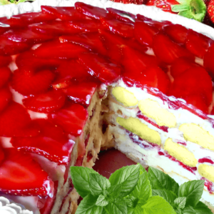 Easy Fresh Strawberry Cake Recipe (Strawberry Cake with Vanilla Custard in 34 Steps)