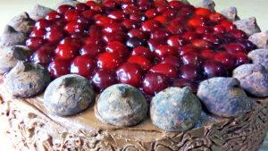 Homemade Chocolate Cake with Cherries - Easy Chocolate Cake Recipe