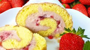 Strawberry Cream Cake - Easy Fresh Strawberry Cake Recipe