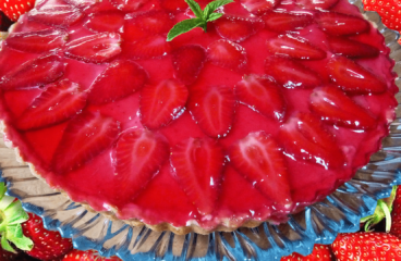 Classic Strawberry Tart Recipe | My Easy Strawberry Cream Cake Video #114<span class=