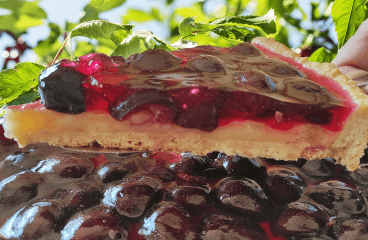 Easy Black Cherry Tart (Fruit Tart Cake Recipe in 13 Steps)<span class=