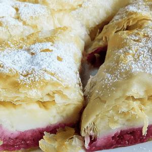 Delightful Raspberry Vanilla Strudel | Easy Homemade Strudel Recipe #142