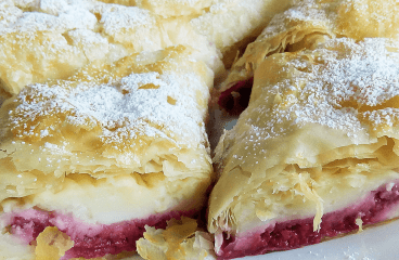 "Raspberry Vanilla Strudel (Easy Strudel Recipe)<span class=""rmp-archive-results-widget ""><i class="" rmp-icon rmp-icon--ratings rmp-icon--star rmp-icon--full-highlight""></i><i class="" rmp-icon rmp-icon--ratings rmp-icon--star rmp-icon--full-highlight""></i><i class="" rmp-icon rmp-icon--ratings rmp-icon--star rmp-icon--full-highlight""></i><i class="" rmp-icon rmp-icon--ratings rmp-icon--star ""></i><i class="" rmp-icon rmp-icon--ratings rmp-icon--star ""></i> <span>3 (2)</span></span>"