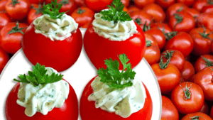 Cream Cheese Stuffed Tomatoes (Easy Cold Appetizer)