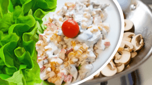 Unique Sweet Corn Salad Recipe with Mushroom and Mayonnaise