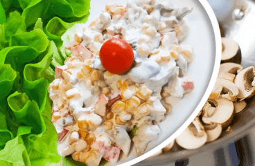 Unique Sweet Corn Salad Recipe with Mushrooms in 8 Steps<span class=