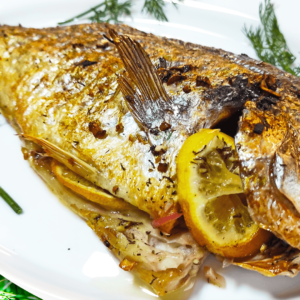 Extra Delicious Oven-Baked Fish in 12 Steps (Seabream)