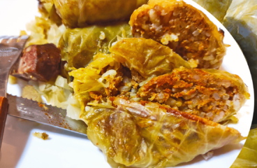 Authentic Baked Stuffed Cabbage Rolls Recipe | See the Easy Cooking Cabbage Video #355<span class=