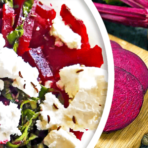 Making an Easy Roasted Beet Salad with Feta Cheese (Beet Salad Recipe in 6 Steps)