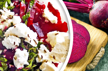 Making an Easy Roasted Beet Salad with Feta Cheese (Beet Salad Recipe in 6 Steps)<span class=