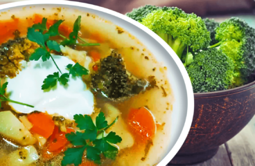 Easy Broccoli Soup (Homemade Vegetable Soup Recipe in 9 Steps)<span class=