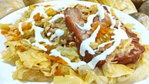 Bacon and Sauerkraut Casserole Recipe