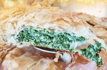 Greek Spinach Pie Recipe Spanakopita | Easy Cooking Spinach Video #350<span class=