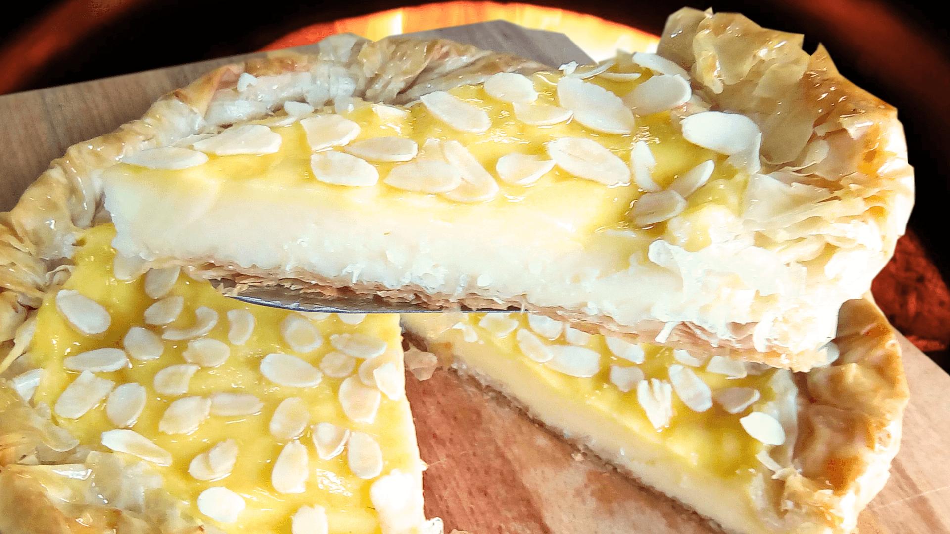 Easy Vanilla Tart (Homemade Vanilla Cake Recipe)