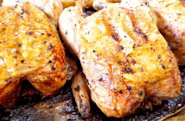 Easy Cooking a Baked Chicken Recipe with Rosemary in 6 Steps<span class=