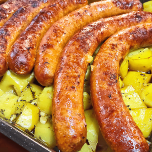 Cooking Italian Sausage and Potatoes | My Easy Sausage Links Video #261