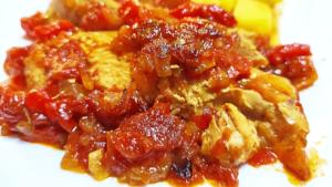 Cooking Turkey Breast in Tomato Sauce (Boneless Turkey Breast Recipe)