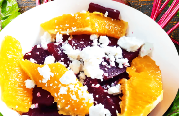 Roasted Beet and Goat Cheese Salad Recipe  | My Easy Beet Salad Video #057<span class=