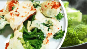 Easy Broccoli Salad Recipe with Greek Yogurt and Brie Cheese