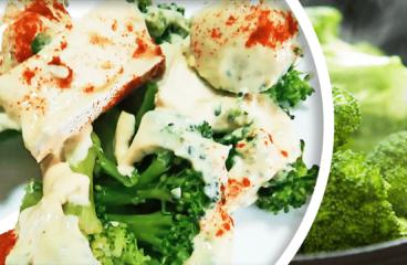 Broccoli Salad Recipe with Yogurt | Easy Salad Appetizer Video #293<span class=