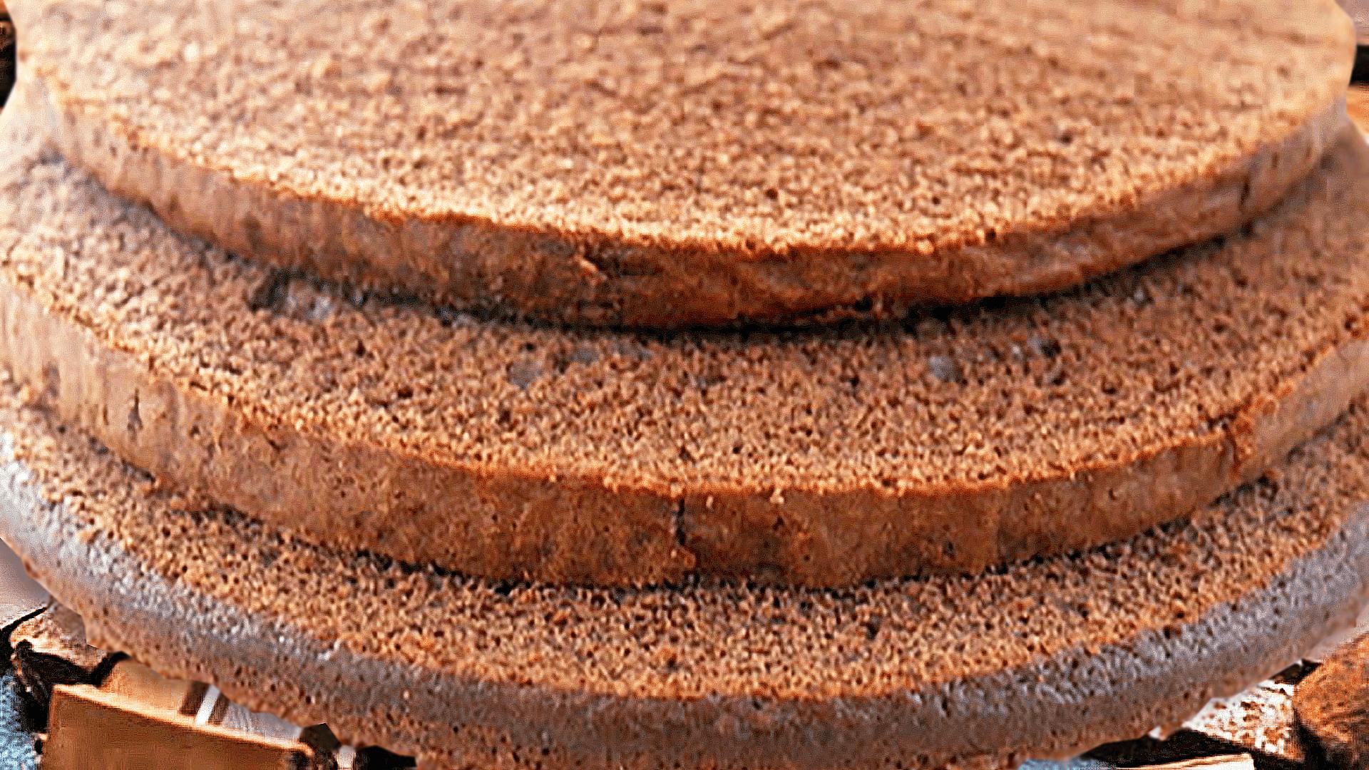 Easy Chocolate Sponge Cake Recipe with 6 Eggs