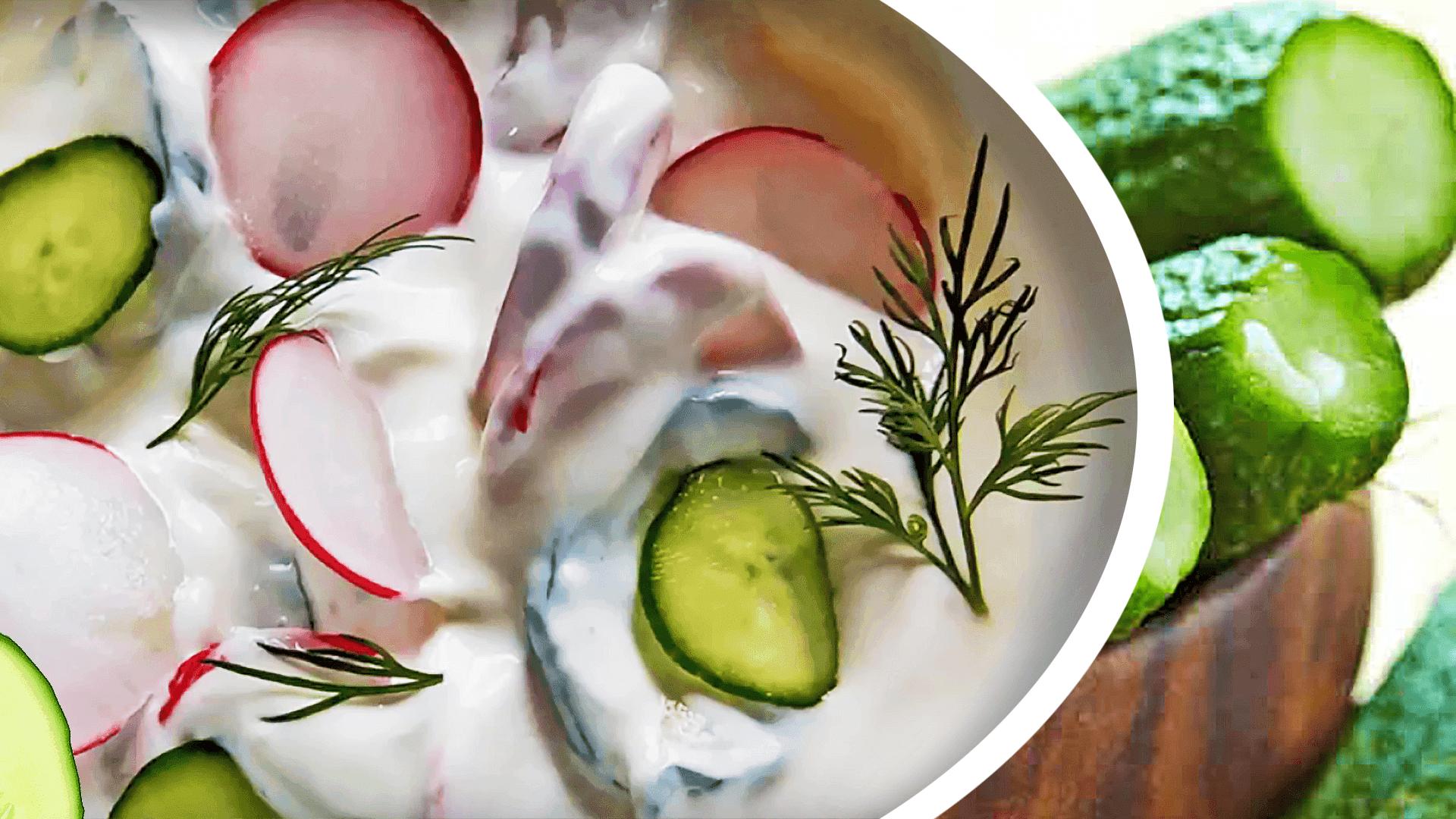 Creamy Cucumber Salad Recipe with Yogurt