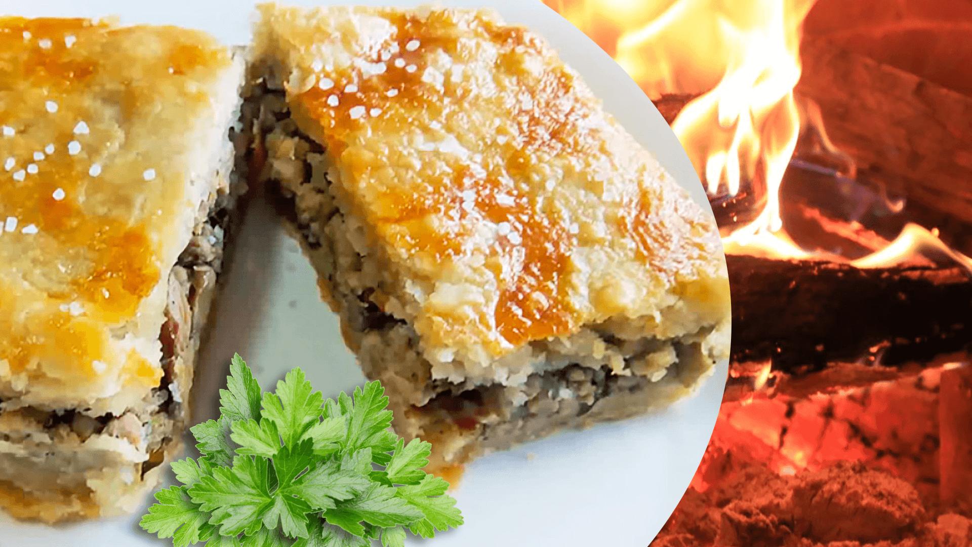 Mushroom and Pork Pie (Easy Ground Pork Pie Recipe)