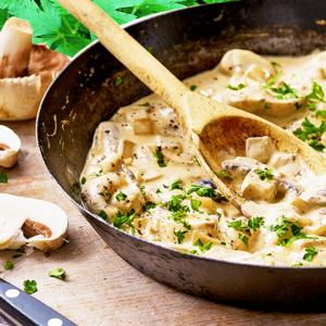 Basic Creamy Mushroom Sauce Recipe for Pasta | Easy Cooking Mushrooms Video #242