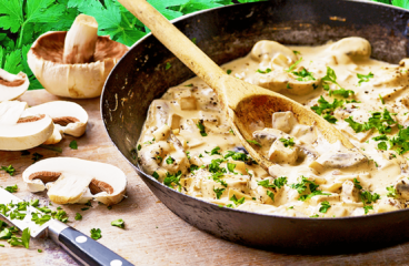 Easy Creamy Mushroom Sauce Recipe for Steak & Pasta #242<span class=
