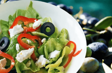 Lettuce Salad with Feta | My Easy Lettuce Salad Video Recipe #186<span class=