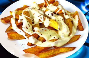 Delightful Cheese French Fries | My Easy Cooking Fries Video #268<span class=