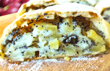 Rolled Apple Cake with Poppy Seeds | My Easy Apple Cake Recipe #129<span class=