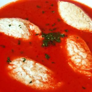 Easy Tomato Soup with Semolina Dumplings | My Tomato Soup Recipe #104