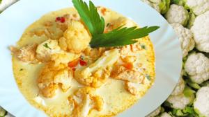 Vegetable Chicken Soup with Cauliflower