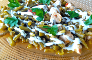Chicken and Green Bean Casserole | My Easy Cooking Green Bean Recipe #387<span class=